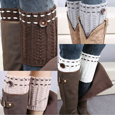 Leggings Women Warm Crochet Knitted Button Boot Socks Leg Warmers New g40