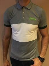HUGO BOSS POLO SHIRT BOSS GREEN MODERN FIT MULTI COLOR STRETCH COTTON NWT S M L