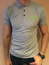 HUGO BOSS POLO SHIRT BY BOSS GREEN MODERN FIT GRAY STRETCH JERSEY NWT S M L