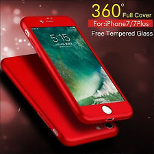 360 Full Body Hybrid Hard Ultra Thin Tempered Glass Case cover For iPhone 6/6s/7