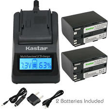 BP-970G Battery & LCD Fast Charger for Canon ES-7000es 7000V 8000 8000V 8100
