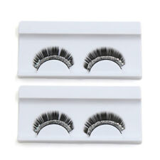 2 Pairs Shining Rhinestone Woman False Eyelashes Eyes Makeup Cosmetic for Party