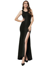 Sexy Plus Size Croch Straps Back Long Formal Party Dress with Slit