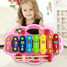 Hand Knock Wood Piano Kids Toy Xylophone Music Rhythm Early Education Instrument