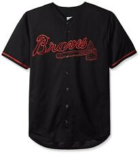 Atlanta Braves MLB Mens Majestic Black Fashion Jersey Big Sizes
