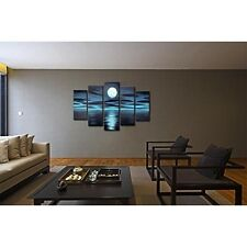 Hand Painted Canvas Wall Art Night Moon Oil Paintings Framed  Modern Landscape