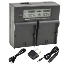 PS-BLM1 Battery & Slim USB Charger for Olympus C-5060 C-7070 C-8080 E-1 E-3 E-30