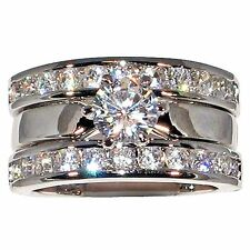 2.54 Ct. Solitaire Round-shape Cubic Zirconia Cz Bridal Engagement Wedding Ring