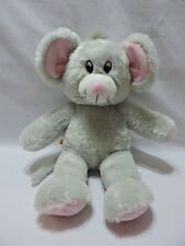 "Build A Bear Mouse Gray Pink Plush Stuffed Animal Toy Soft Eyes 16"" BABW"