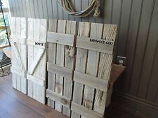 NEW RUSTIC FARMHOUSE RECLAIMED BARN WOOD SHUTTERS FOR 9 PANE WINDOW MIRROR DECOR