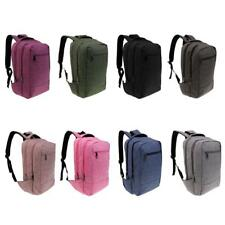 Plain Laptop Backpack Rucksack Travel Gym School Sports Bag College Bookbag