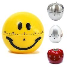 Stainless/Plastic Mechanical Kitchen Cooking Alarm Timer Reminder 60 Minute Tool