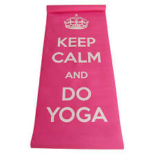 Yoga Mat w/ Carrying Strap- Printed Message- 4 Variations- NEW