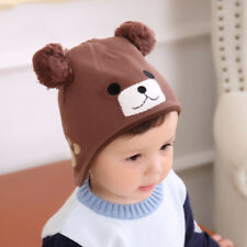 Infant Caps for Girls Ear Care Hat Winter Crochet Boy Caps 2017 Baby Bear Beanie