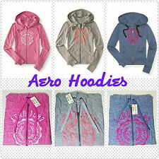 Aeropostale womens 1987  full-zip hoodie sweater PINK,BLUE,GREY,PINK L,XL,2XL