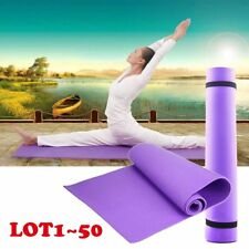 "LOT1~50 Yoga Mat 6mm Thick 68""x24""Durable Pad Exercise Fitness Blanket Purple EN"