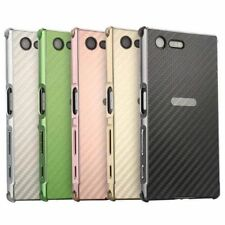 Luxury Carbon Fibre Aluminum Metal Frame Cell Case Hard Cover For Sony Series
