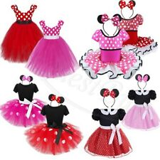 Halloween Kids Girls Polka Dots Baby Mouse Outfits Fancy Dress Costume Cosplay