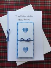 Handmade Boxed Birthday Or Anniversary Card For Husband
