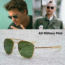 MILITARY Pilot Sunglasses Fashion Army AO 54mm Brand American Optical Glass