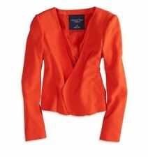 NWT AMERICAN EAGLE WOMENS S M  OPEN CROPPED ORANGE BLAZER JACKET NEW
