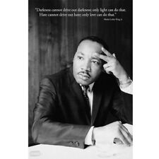 """Martin Luther King Jr.""""Darkness Cannot Drive Out Darkness""""Art Silk Fabric Poster"""