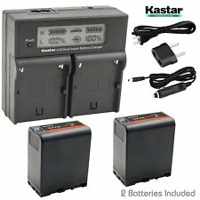 BP-U66 Battery & Dual Fast Charger for Sony PMW-EX3R PMW-EX160 PMW-EX260