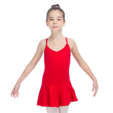NEW Girls Kids Ballet Dance Leotard Dress Cotton Camisole Skirts Practice 2-12Y