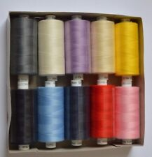 10x Coats Moon Assorted Mix Polyester Sewing Overlocking Thread 1000 Yards 120's