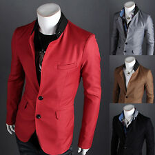 Stylish Mens Slim Two Button Stylish Business Casual Blazer Jacket Suit Coat New