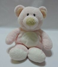 Baby Ty Pluffies Pink Bear Plush Stuffed Animal Sewn Eyes White Belly 2006