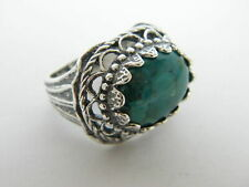 New SHABLOOL Fine Ring Turquoise 925 Sterling Silver Women Jewelry
