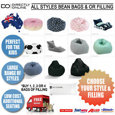Bean Bag Covers & Bean Refills Chair Replacement Case with Beanbag Filler Beads