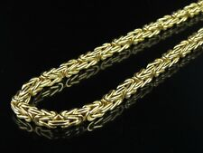 """5MM Mens Womens SOLID 10K Gold Byzantine Heavy Necklace Chain - 18"""" - 24"""" Inches"""
