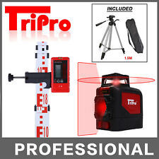 3D 1x360° Self Leveling Cross Laser Level Multi Line With Receiver Staff Tripod