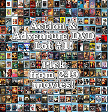 Action & Adventure DVD Lot #1: 249 Movies to Pick From! Buy Multiple And Save!