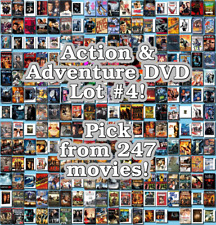 Action & Adventure DVD Lot #4: 247 Movies to Pick From! Buy Multiple And Save!
