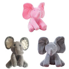 Baby Peek-A-Boo Pal Animated Moving Ears Elephant Plush Toy with Music Unique