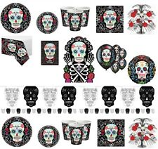 Day Of The Dead Halloween Skulls Party Decorations Tableware Plates Cups Napkins
