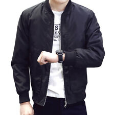 Spring Autumn Men S Jackets Solid Fashion Coats Male Casual Slim Stand Collar