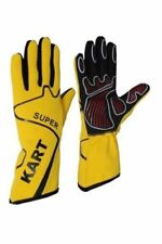 YELLOW Kart Gloves GO Kart Gloves Karting Gloves, Kart Racing Gloves Racing Glov