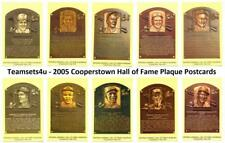 2005 Cooperstown Hall of Fame HOF Plaque Postcards Baseball Set * Pick Your Team