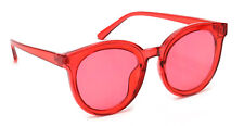 Round Designer Cat Eye Sunglasses Color Lens Retro Vintage Style Eyeglasses