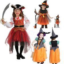 Girls Pirate Fairy Princess Halloween Fancy Dress Pumpkin Costume Kid Dance Wear