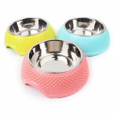 single Bowls  Stainless Steel Feeder Pet Dog Bowl Food Water Dish Feeder I0504