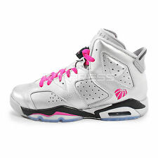 Nike Air Jordan 6 Retro GG [543390-009] Basketball Silver/Vivid Pink-Black