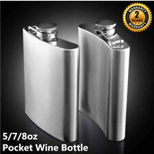 Stainless Steel Hip Liquor Whiskey Alcohol Flask Cap5 7 8oz Pocket Wine Bottle W