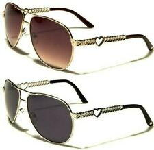 NEW SUNGLASSES DESIGNER LADIES WOMENS GIRL HEART BIG AVIATOR LARGE VINTAGE RETRO
