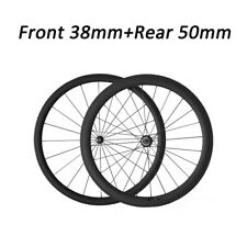 Straight Pull Wheel Road Bike Bicycle Racing 38mm+50mm Clincher Carbon Wheels