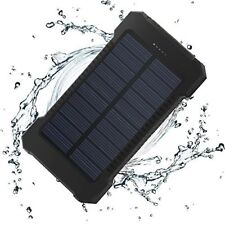 Power Bank Solar Waterproof 10000mAh Dual USB Battery Charger With LED Light New